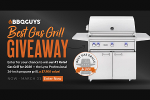 Bbqguys – Best Gas Grill Giveaway – Win Lynx Professional 36-Inch All Infrared Trident Propane Gas Grill With Rotisserie
