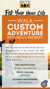 Bell's Brewery – Fish Your Heart Out – Win the actual value of the prize