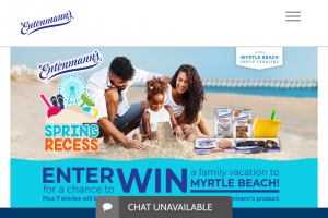 Bimbo Bakeries – Spring Recess With Entenmann's Visit Myrtle Beach – Win a trip that includes three (3) nights