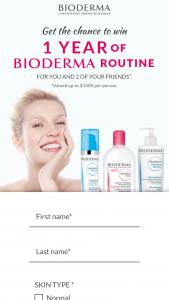 Bioderma – 1 Year Of Bioderma Sweepstakes