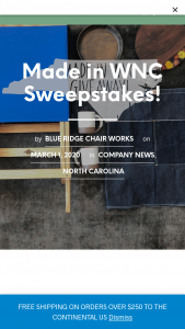 Blue Ridge Chair Works – Made In Wnc Giveaway Sweepstakes