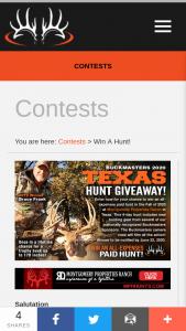 Buckmasters – Texas Hunt Giveaway Sweepstakes