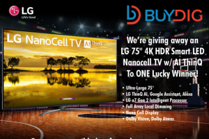 Buydig – 75″ 4k Hdr Smart Led Nanocell TV – Win Smart LED Nanocell TV w/ AI ThinQ is $2899.99
