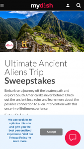 Dish – Ultimate Ancient Aliens – Win a trip for two (2) to Peru and Bolivia