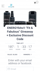 Energybits – Fit & Fabulous Giveaway Sweepstakes