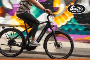 Explore La Crosse – E-Bike – Win includes Medium sized nautical navy Allant 7S Trek E-Bike with a Bosch PowerTube 500 battery Bosch Performance Speed (28 mph) Motor cargo rack plus more