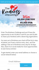Family Talk Today – Kindness Challenge Sweepstakes