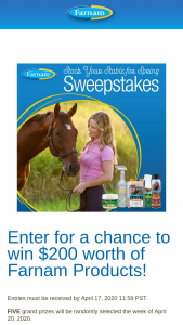 Farnam Companies – Stock Your Stable For Spring – Win One assortment of Farnam Products