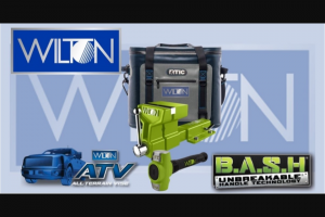 "Fastenal – Jpw March 2020 Giveaway – Win of One (1) Special Edition BASH 5″ ATV Including 2-1/2 lb Sledge Hammer & Mounting Bracket and One (1) RTIC ""Wilton"" Cooler – Soft Pack 30."