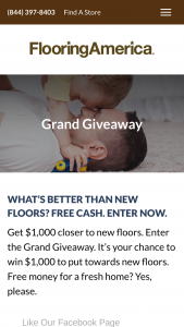Flooring America – 1k Giveaway – Win a $1000 credit to be used at a Flooring America or Flooring Canada location