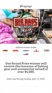 Frogg Toggs – Extreme Bass 2020 Giveaway – Win frogg toggs Men's Pilot PRO Jacket in Realtree Fishing Pattern of your choice