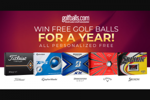Golfballscom – Golf Balls For A Year – Win twelve dozen customized premium golf balls