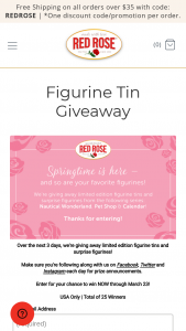 Harris Tea – Red Rose Figurine Tin Giveaway – Win the prize of the day