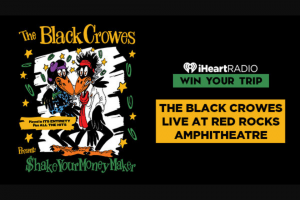 Iheartmedia – The Black Crowes Live At Red Rocks Amphitheatre – Win a trip for the grand prize winner and eligible guest to Colorado Round-trip domestic