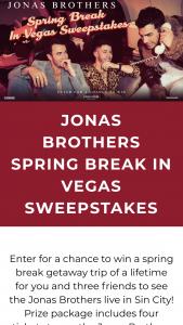 Live Nation – Jonas Brothers Vegas Getaway Sweepstakes