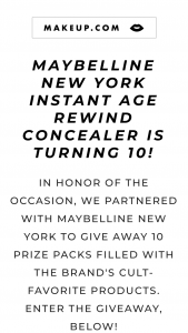 Makeupcom – Maybelline New York Cult Classics – Win a selection of Maybelline New York Products