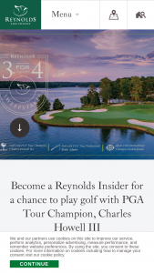 Oconee Golf – Reynolds 3 For 4 – Win night prize package for winner and 3 guests at Reynolds Lake Oconee (ARV $16148).
