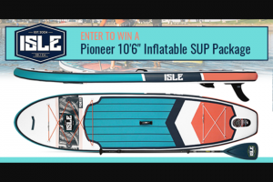 Paddling – Isle Sup – Win the ISLE Pioneer 10'6″ Inflatable Paddle Board Package