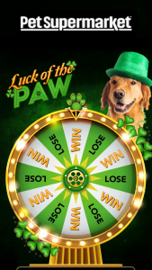 Pet Supermarket – Luck Of The Paw Instant Win Game Sweepstakes