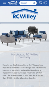Rcwilley – March Giveaway Sweepstakes