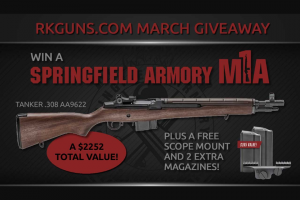 Rural King – Springfield M1a – Win one Springfield M1A AA9622 with an ARV of $1987.