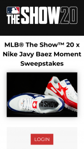 Sony Interactive MLB – The Show 20 X Nike Javy Baez Moment – Win one pair of MLBTS20 x Nike Javy Baez lifestyle sneakers