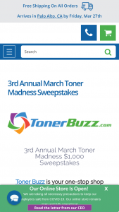 Toner Buzz – 3rd Annual March Toner Madness $1000 Sweepstakes