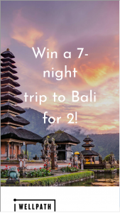 Wellness Creations – Win A 7-night Trip To Bali For 2 Sweepstakes