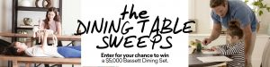 Bassett – Win a Bassett Dining prize pack valued at $5,000