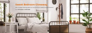 Songmics – Win a grand prize of a bed frame valued at $150 OR 1 of 5 minor prizes