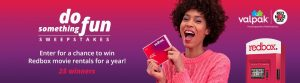 Valpak – Win 1 of 25 prizes of a year's supply of 1-night Redbox DVD or Blue-ray rentals