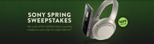 World Wide Stereo – Win a pair of WH-1000XM3 Noise-Cancelling Headphones & a High-Res Digital Walkman