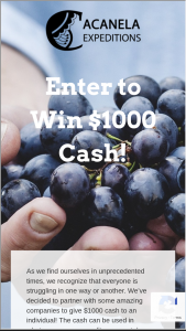 Acanela – $1000 Grant For An Individual Or Family In Need Sweepstakes