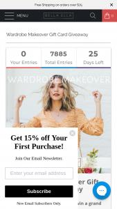 Bella Ella – Wardrobe Makeover Gift Card Giveaway – Win a $1000 Bella Ella Boutique gift card