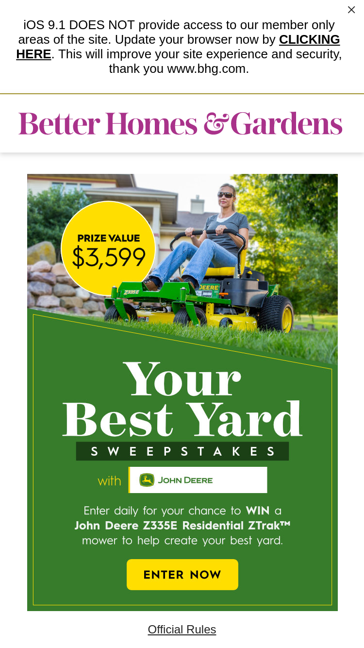 Better Homes And Gardens Your Best Yard Sweepstakes With J