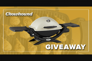 Chowhound – Springtime To Win-Time – Win Weber Q 1200 LP gas grill