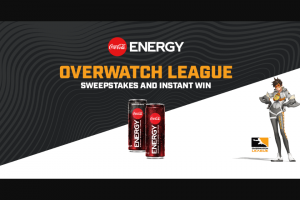 Coca-Cola – Coke Energy Overwatch League Sweepstakes