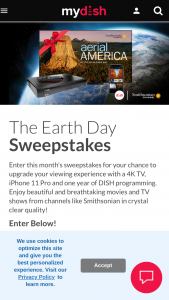 Dish – Earth Day Sweepstakes