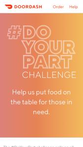 Doordash – #doyourpart – Win a DoorDash gift card of $25.00 USD