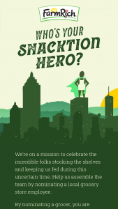 Farm Rich – Snacktion Heroes Sweepstakes