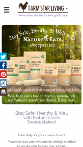 Farm Star Living – Nature's Eats Sweepstakes