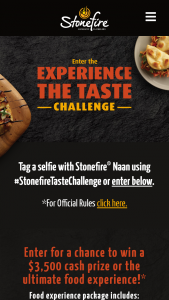 Fgf Brands Stonefire – Experience The Taste Sweepstakes