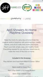 Freshly Picked – April Showers At-Home Playtime Giveaway Sweepstakes