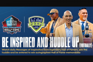 Gannett Media – Be Inspired And Huddle Up Sweepstakes