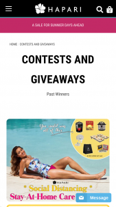 Hapari – Stay-At-Home Care Package Sweepstakes
