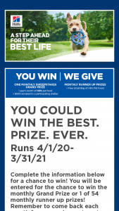Hill's Science Diet – Every Great Day Sweepstakes