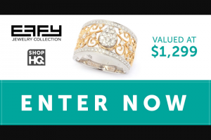 "Imedia Brands – Effy Collection – Win one EFFY ""Duo"" 14K Two-tone Gold 0.58ctw Diamond Scrollwork Wide Band Ring"