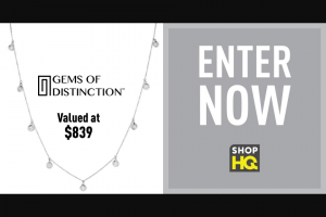 Imedia Brands – Gems Of Distinction April – Win one Gems of Distinction 14K Gold 0.63ctw Diamond Dangle Adjustable Necklace The estimated retail value of this prize is $839.86