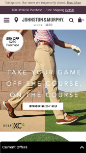Johnston & Murphy – Golf Giveaway – Win this Sweepstakes is $377.50 USD one (1) pair of XC4® H1-Luxe Hybrid golf shoes one (1) XC4® Golf Polo one (1) XC4® Golf Shorts or Pants and one (1) Stretch Knit Belt