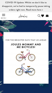 Joules – Adult And Child Bicycle – Win Joules Adult and child floral wrapped bicycle